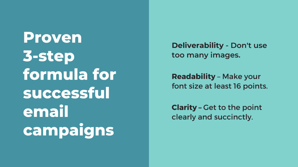 Formula for successful email campaigns - Deliverability Readability Clarity